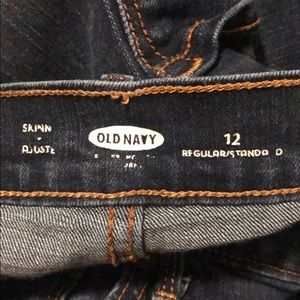 Old Navy Jeans - Old Navy Dark Wash High Waisted Skinny Jeans